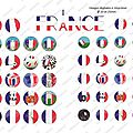 Images digitales foot ballons france euro 2016 - cabochons ronds 20 mm et 25 mm