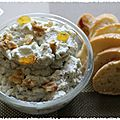 Tartinade de roquefort aux fruits secs