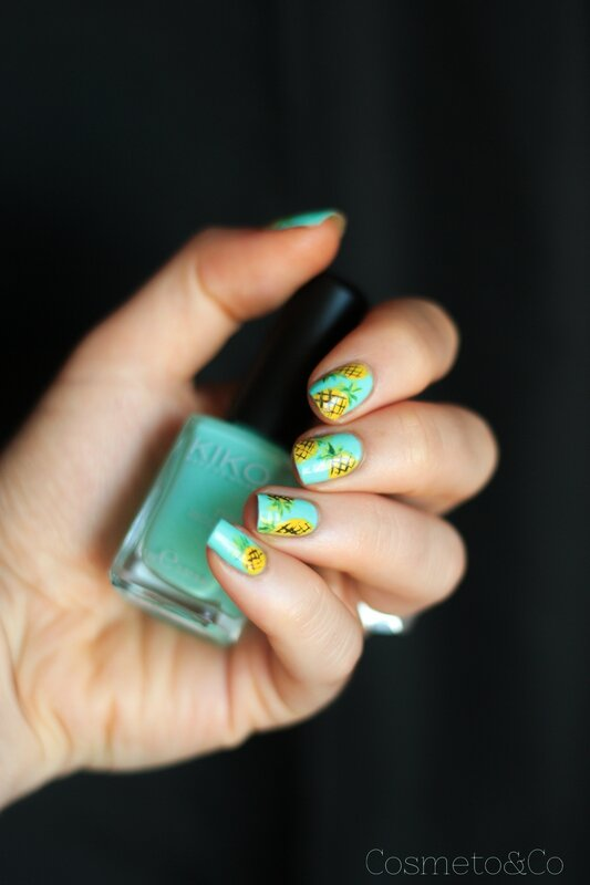 nail art ananas tropical été summer pineapple_-3