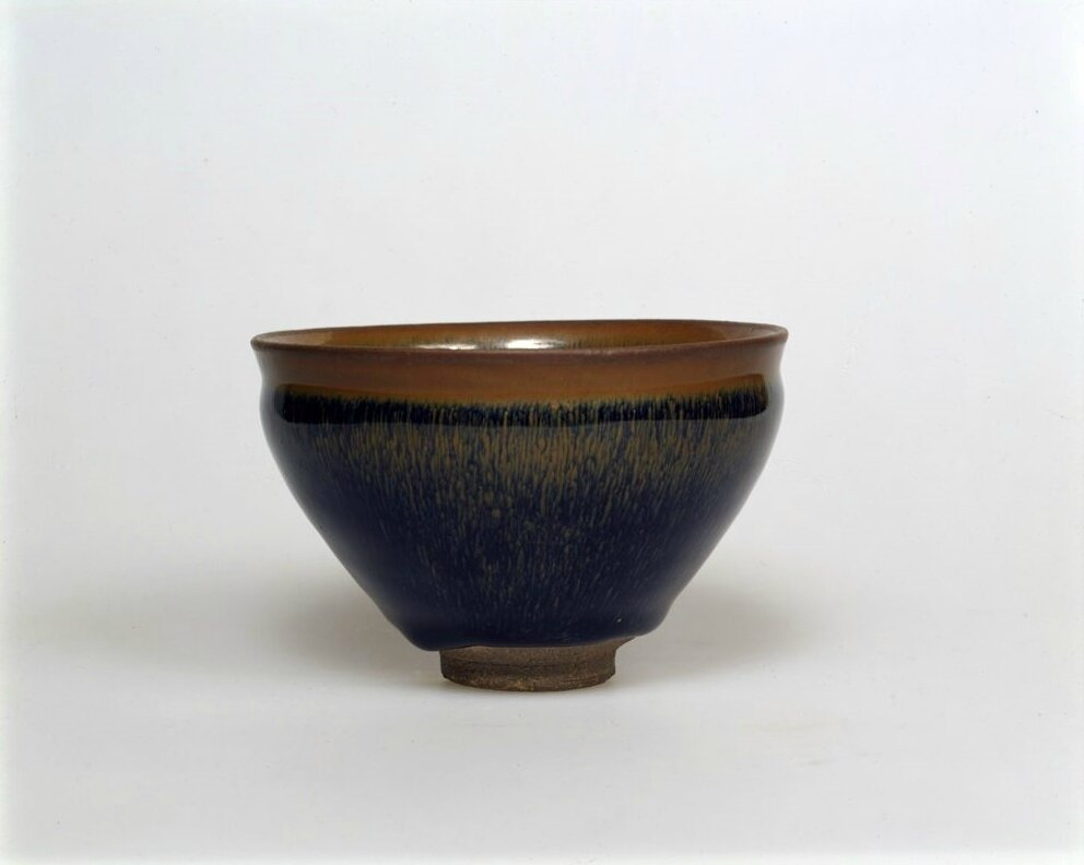 Tea Bowl with Indented Lip and Russet Hare's-Fur Markings, Song dynasty, 12th-13th century