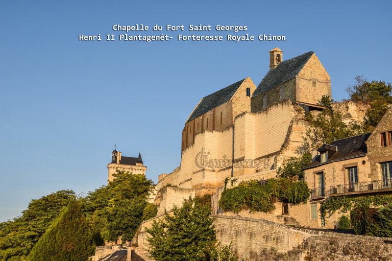Chapelle du Fort Saint Georges Henri II Plantagenêt Forteresse Royale Chinon