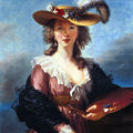 Auto portrait du peintre Vigée Le Brun