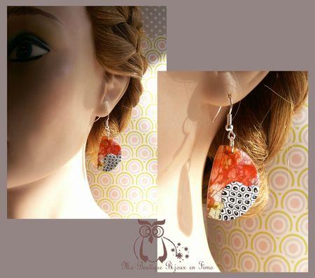 Boucles pour collier grand design portées