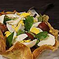 Corolle de crêpe et sa salade gourmande