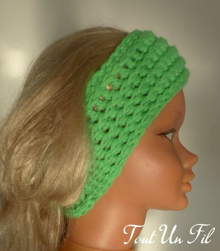 Tuto gratuit crochet Headband Bandeau Chache-oreilles facile Tout Un Fil 01