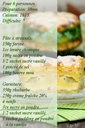 recette gâteau à la rhubarbe