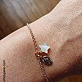 Bracelet Vierge à l'Etoile (plaqué or) - 34 €