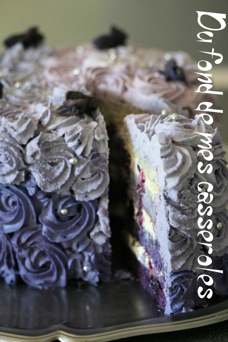 Purple rose cake Edith-