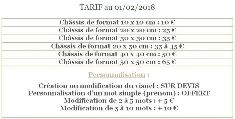 Tarif 2018