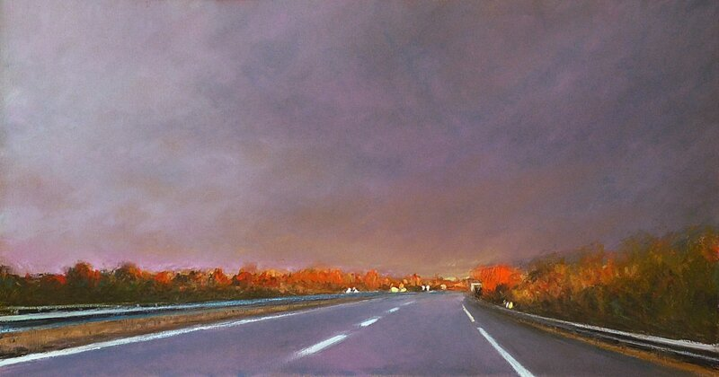 K'nowhere 68, nov 2016, pastel à l'huile, 48 x 27 cm