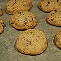 Cookies au chocolat et graines de sésame glamour