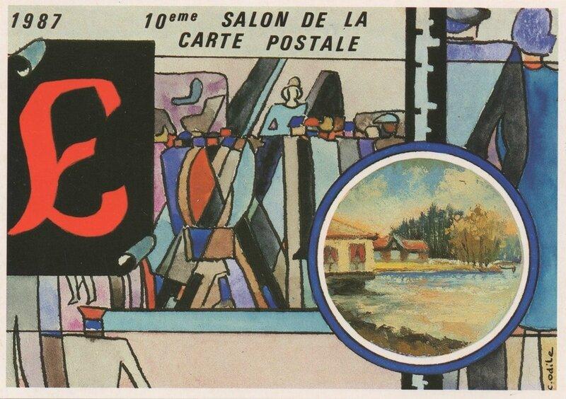 1987 10ème Salon CP Puzzle C Odile 2 RR