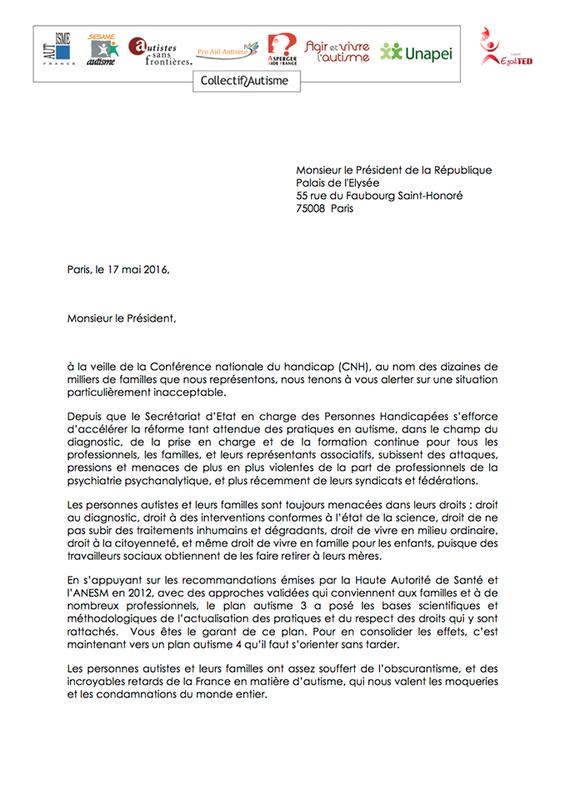 lettre président république 18