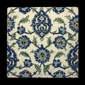 Carreau au décor végétal, damas, art ottoman, fin du 16e siècle