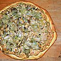 Pizza blanche au poireau