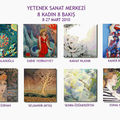 Exposition a la galerie yetenek, a istanbul