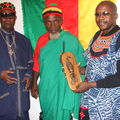 Mboua Massok receiving the Moumie Prize