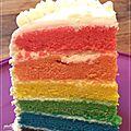 Rainbow cake classique
