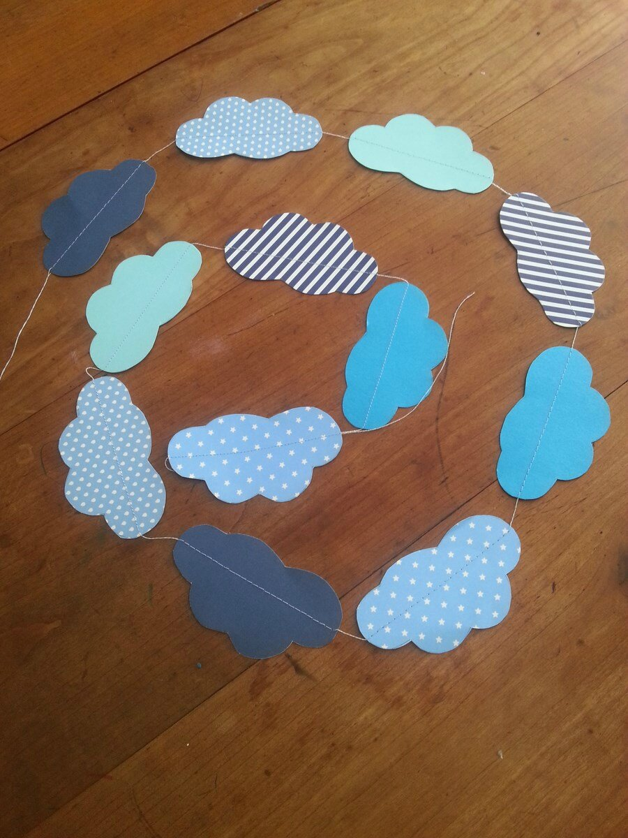 Clouds & hearts garlands
