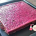 Brownies fruits rouges amandes