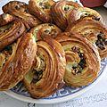 Escargots aux pépites de chocolat et noix de pécan caramélisées