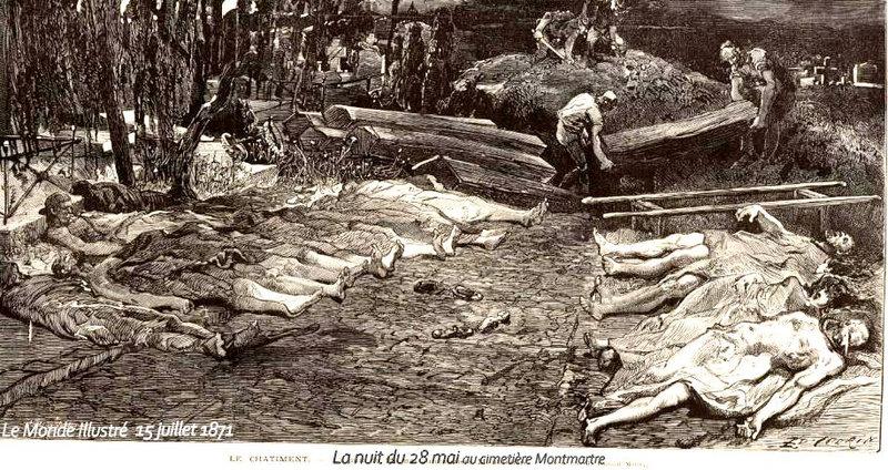 1871 15 juill cimetière Mtmartre le châtiment monde illustré