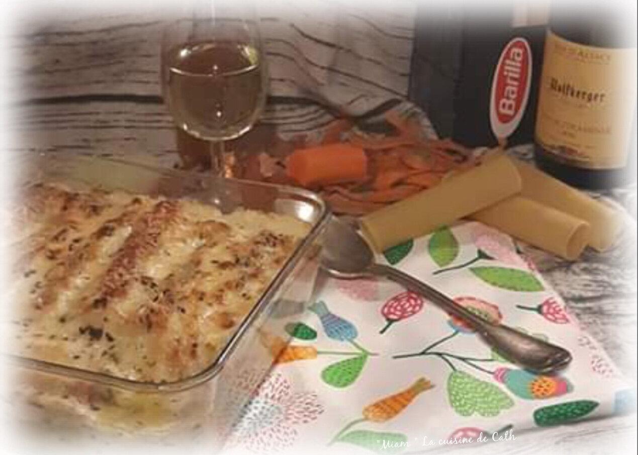 """ღ """" Miam """" Gratin de cannelonis aux St Jacques et poireaux .. { Foodista#47 }"""