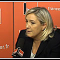 Marine le pen sur france inter le 30/09/2018