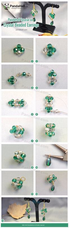 6-PandaHall Tutorial on Crystal Beaded Earrings