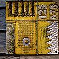 Carré jaune argenté 20x20cm