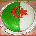 Bolo de côco ( avec décor drapeau algérien )