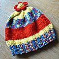 #tricot : 1 pelote = 1 #bonnet top this de dmc