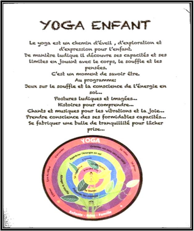 Yoga enfants 6 à 10 ans le mercredi 23 oct de 14 h30 à 16h