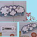 Barrette MOUTONS et nuages