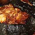 Courgettes rondes farcies, boeuf, coulis de tomates et mozzarella