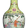 A fine famille-rose 'boys at play' bottle vase, jiaqing seal mark and period (1796-1820)