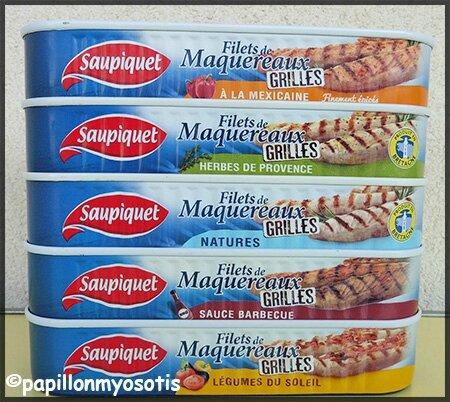 maquereaux grillés saupiquet