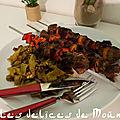 Brochette de bœuf au cumin et à la cannelle, au barbecue