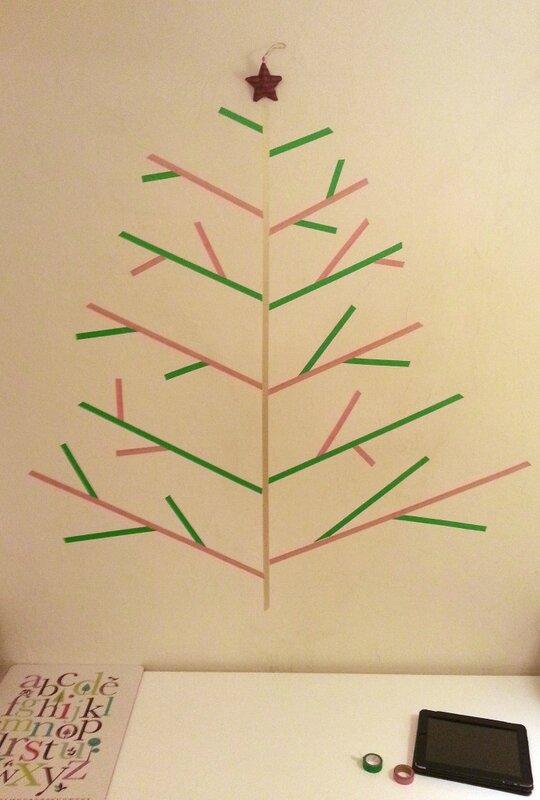 sapin de Noël en masking tape washi tape