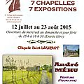 7 chapelles, 7 expositions