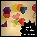 Diy : la table lumineuse
