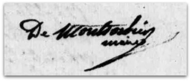 Montsorbier dernière signature 15 août 1827 z