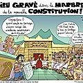 Dieu gravé dans le marbre de la constitution