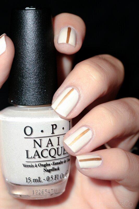nail art nude minimaliste ligne or-4