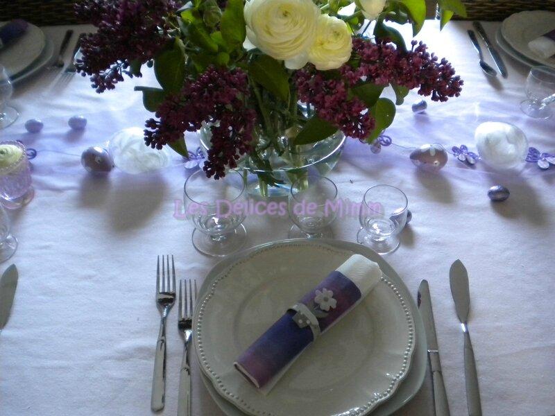 Table poétique de Pâques autour du lilas 5