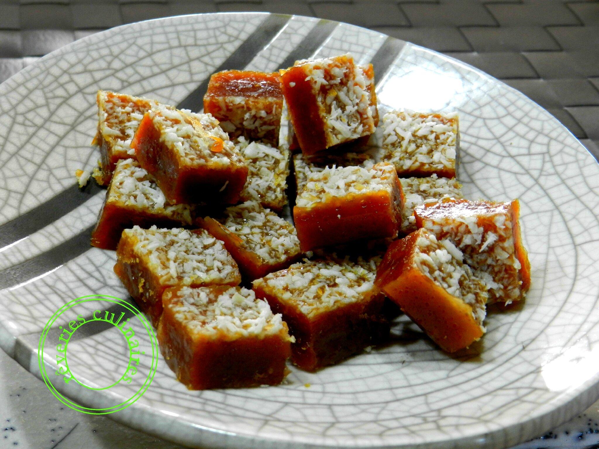 Caramels à la noix de coco ( sans gluten sans lactose)