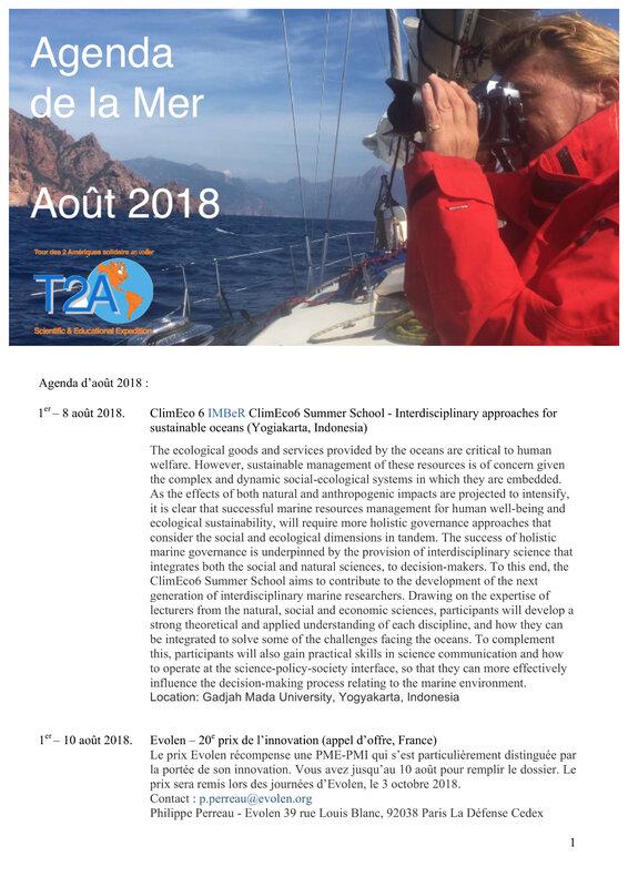 Agenda de la mer août 2018 page 1:4