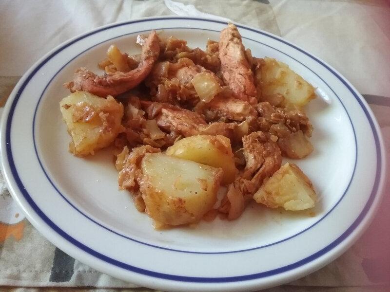 emincé de poulet et pommes de terre sautées au curcuma1