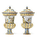 Exquisite vases owned by bachelor of narford hall sell at bonhams for outstanding price
