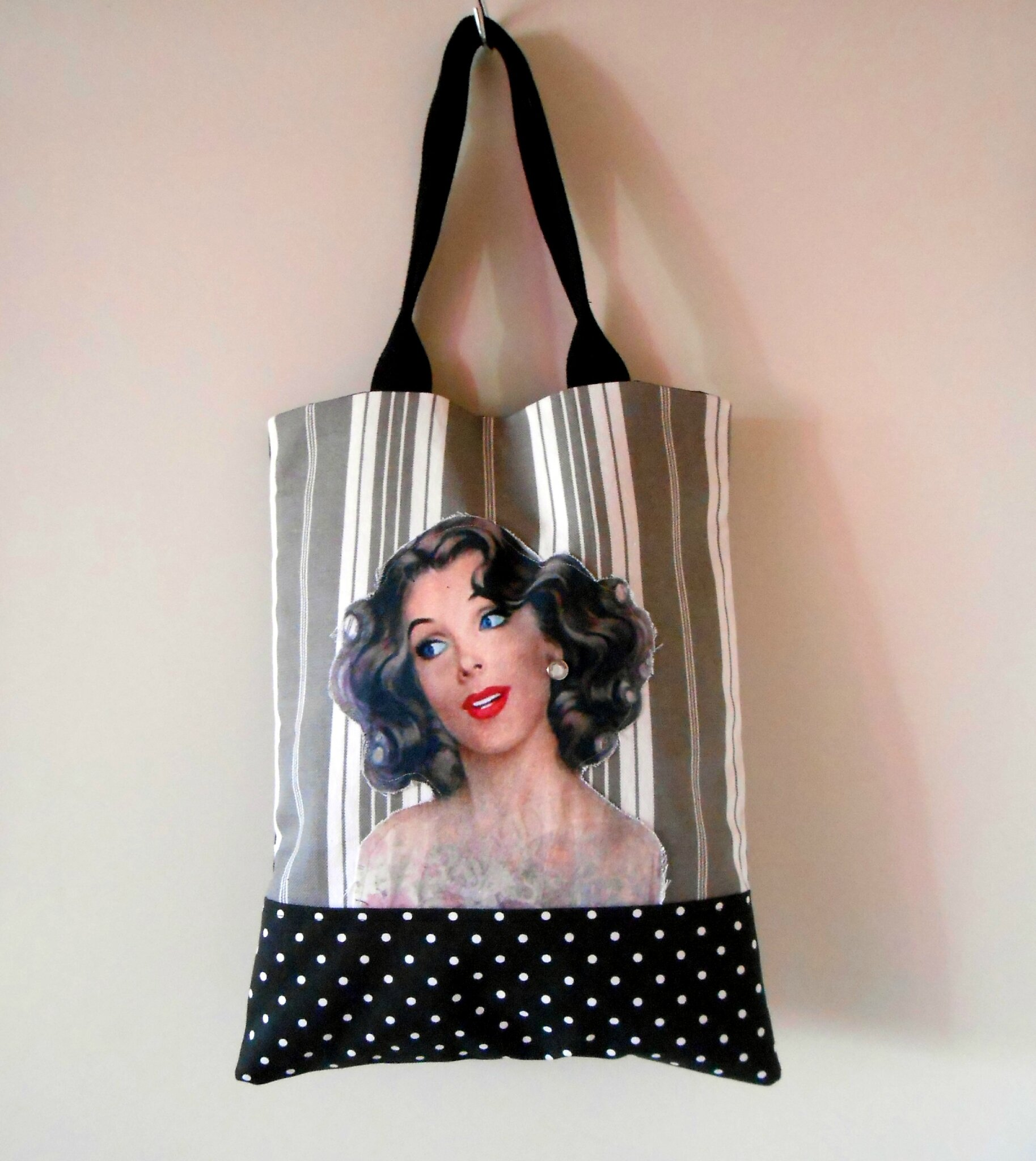 Sac cabas pin up noir